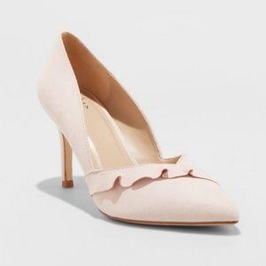 NWT A new day blush Elisabeth ruffle sz 10 heel